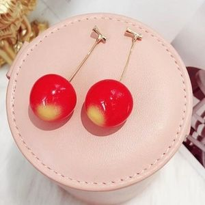 Red 🍒 Cherry Drop Earrings